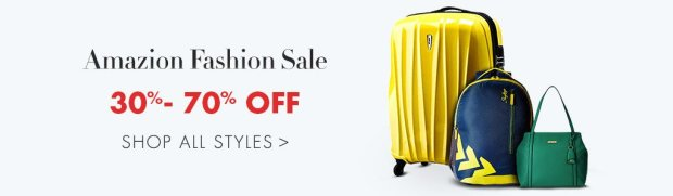Amazon.in fashion sale luggage bags